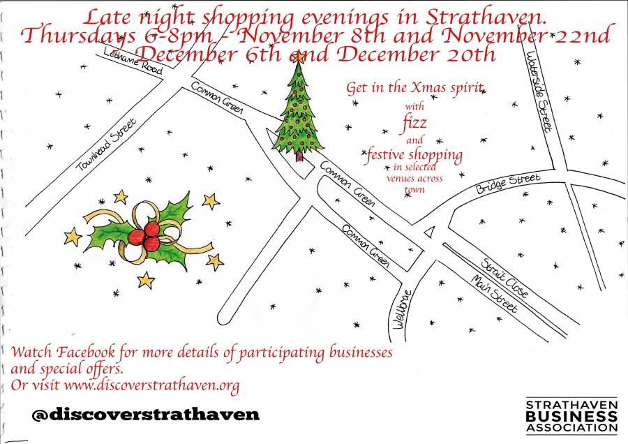 Strathaven Xmas Shopping event 2018